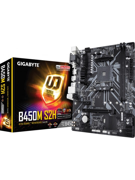 MOTHERBOARD GIGABYTE B450M-S2H V2 AM4 AMD GA-B450M-S2H V2