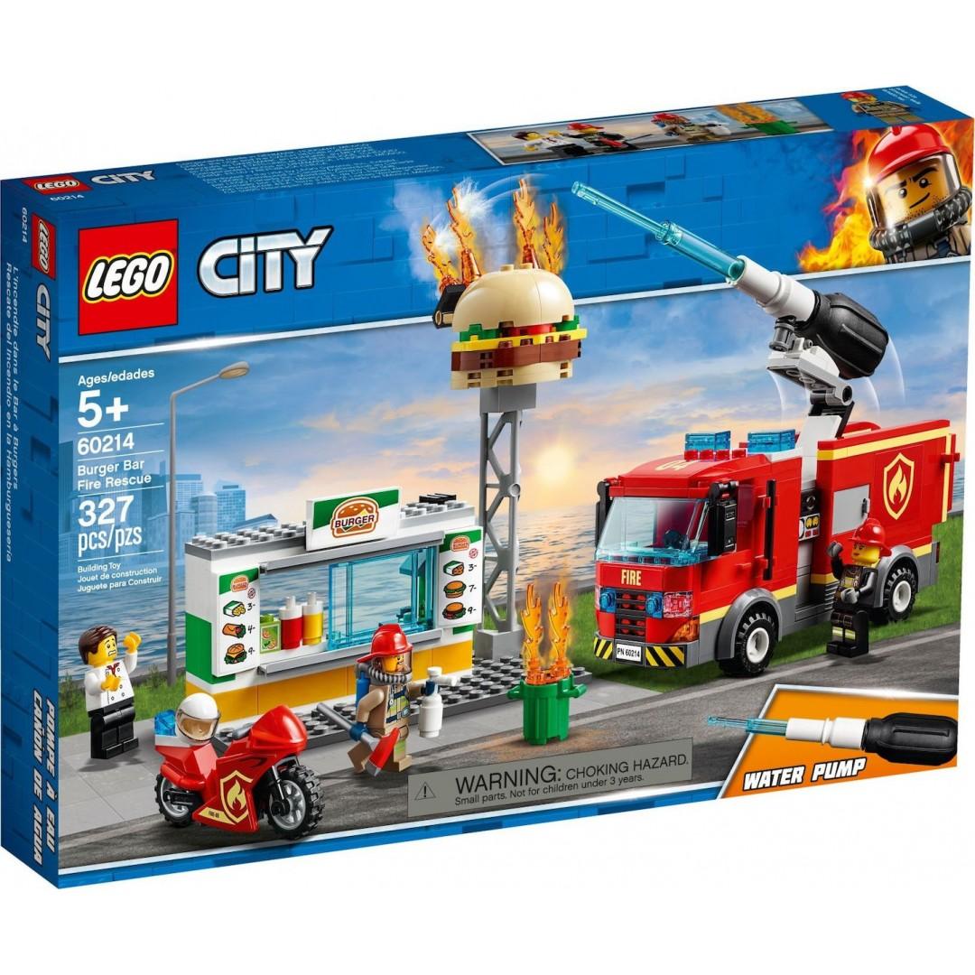 LEGO CITY 60214 BURGER BAR FIRE RESQUE