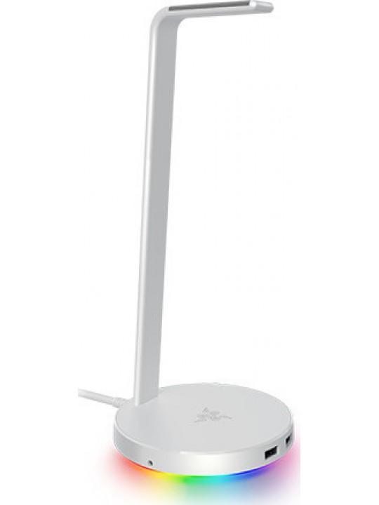RAZER BASE STATION V2 MERCURY CHROMA ENABLED HEADSET STAND USB 3.1&7.1 SURROUND RC21-01510300-R3M1