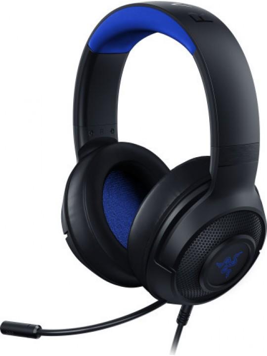 HEADSET RAZER KRAKEN X PS4 ANALOG GAMING BLACK-BLUE RZ04-02890200-R3M1