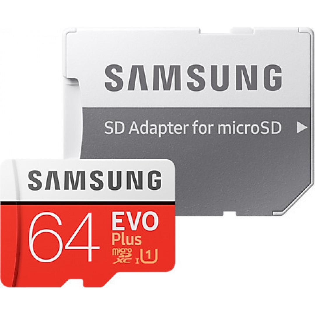 MICRO SDXC SAMSUNG 64GB U1 EVO+ MB-MC64HA ADAPTOR
